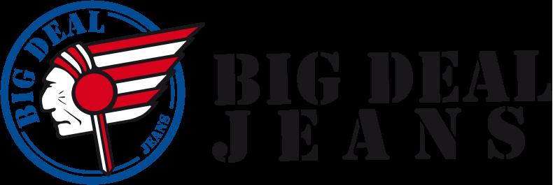 Big Deal Jeans Logo mit Slogan