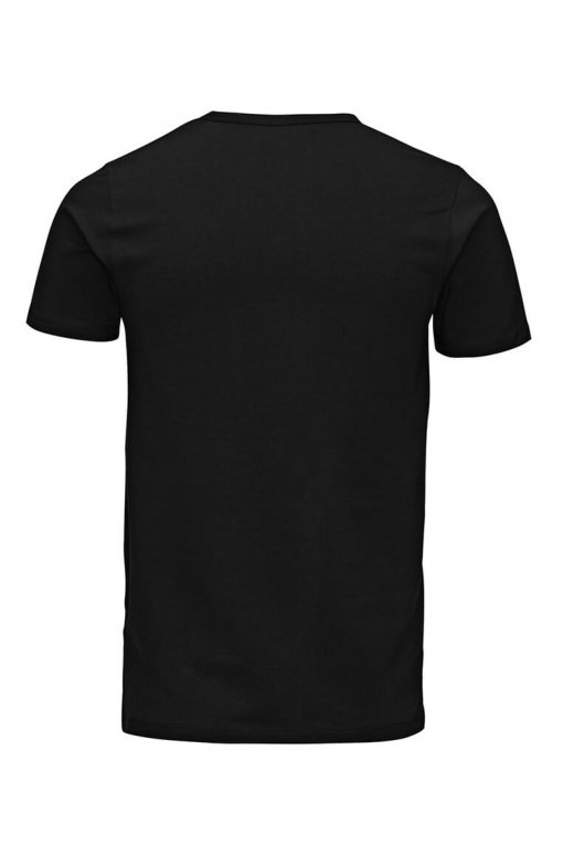 Jack & Jones O-neck tee black Hinteransicht