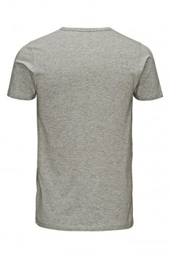 Jack & Jones O-neck tee light grey melange Hinteransicht