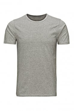 Jack & Jones O-neck tee light grey melange Vorderansicht