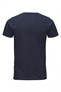 Jack & Jones O-neck tee navy blue Hinteransicht