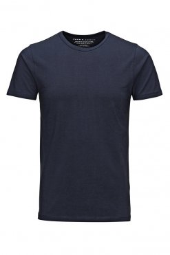 Jack & Jones O-neck tee navy blue Vorderansicht
