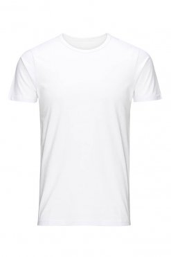 Jack & Jones O-neck tee optical white Vorderansicht
