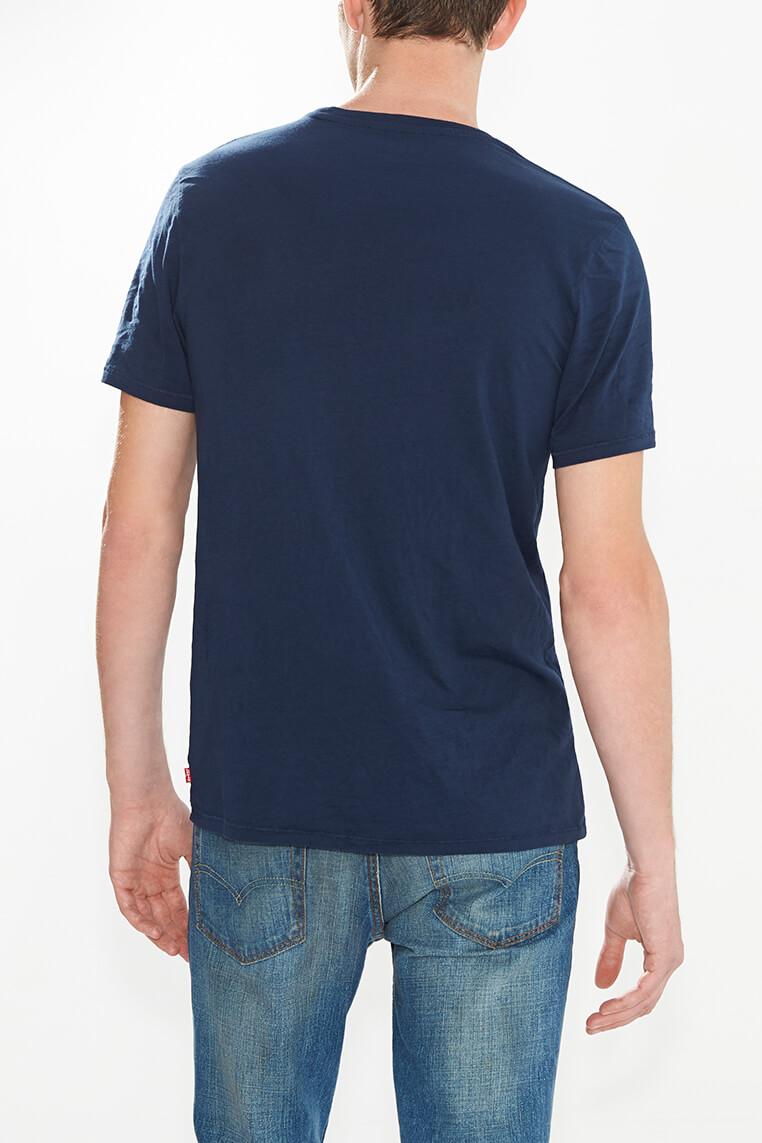 Levi's logo tee men navy blue Hinteransicht