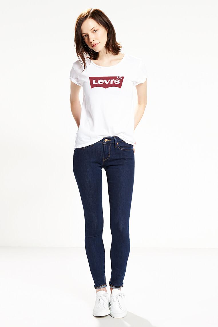 Levi's logo tee women white Vorderansicht