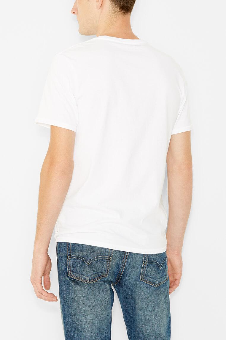 Levi's logo tee men white Hinteransicht