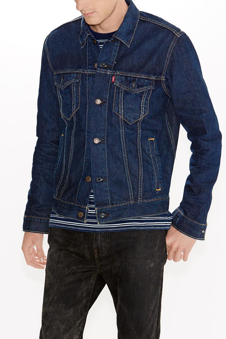Levi's Trucker Jacket stone blue Vorderansicht