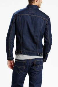 Levi's Trucker Jacket rinsed Hinteransicht