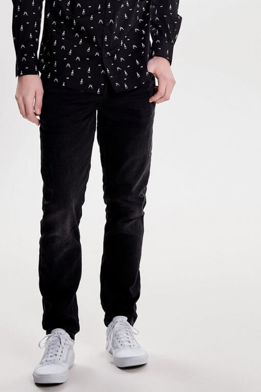 Only & Sons Loom jogg denim black Vorderansicht