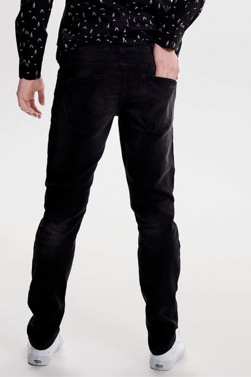 Only & Sons Loom jogg denim black Hinteransicht