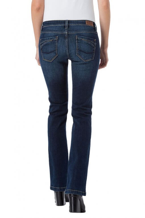 Cross Jeans Lauren dark blue wash Hinteransicht