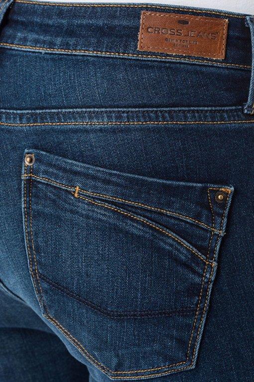 Cross Jeans Lauren dark blue wash Gesäßtasche
