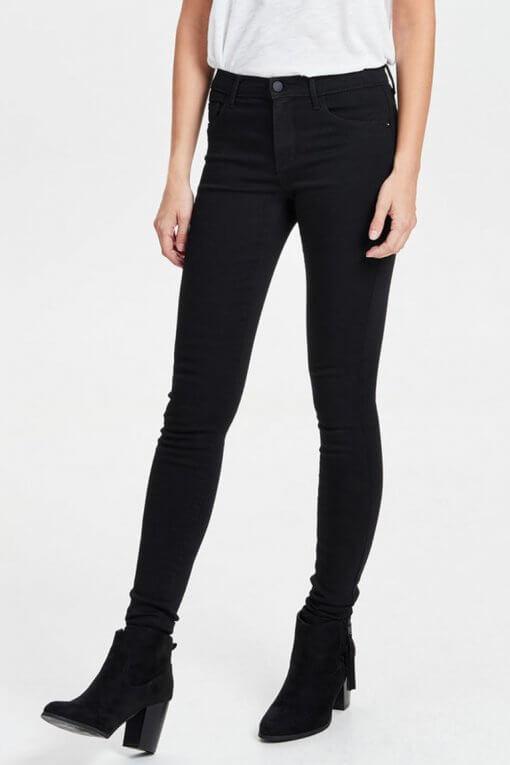 Only Rain Skinny Jeans black Vorderansicht