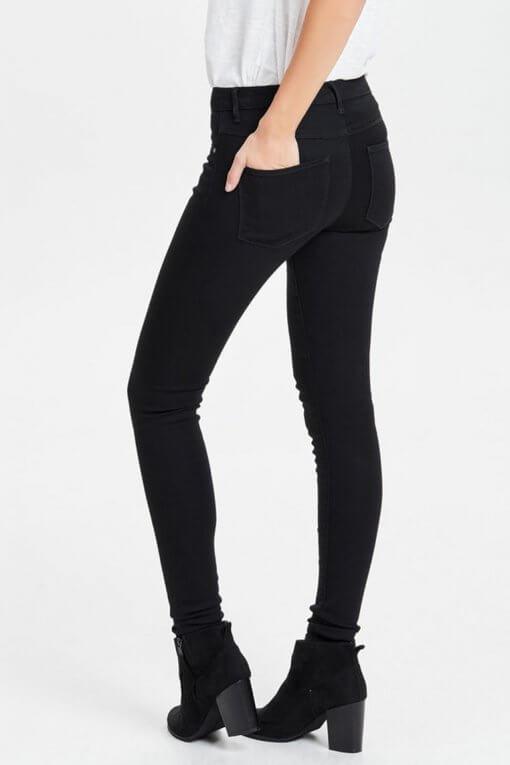 Only Rain Skinny Jeans black Hinteransicht
