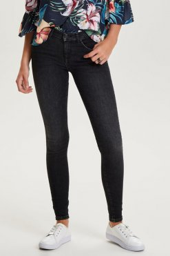 Only Shape Deluxe Skinny black wash Vorderansicht