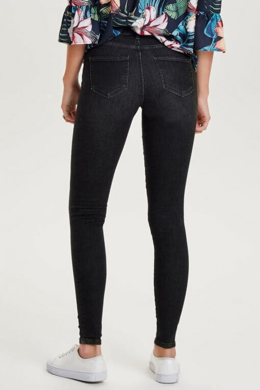 Only Shape Deluxe Skinny black wash Hinteransicht