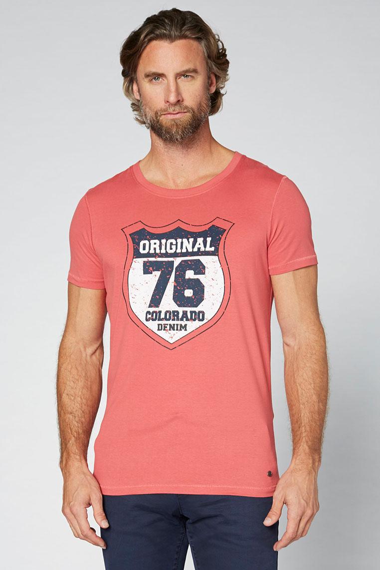 Colorado Adonis T-Shirt garnet rose Vorderansicht 2