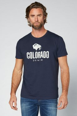 Colorado Cole T-Shirt navy Vorderansicht 2