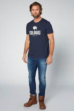 Colorado Cole T-Shirt navy Vorderansicht