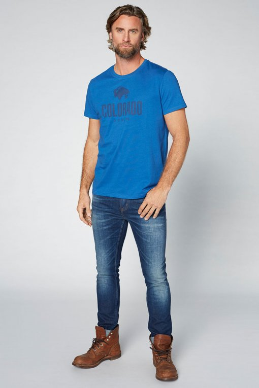 Colorado Cole T-Shirt true blue Vorderansicht