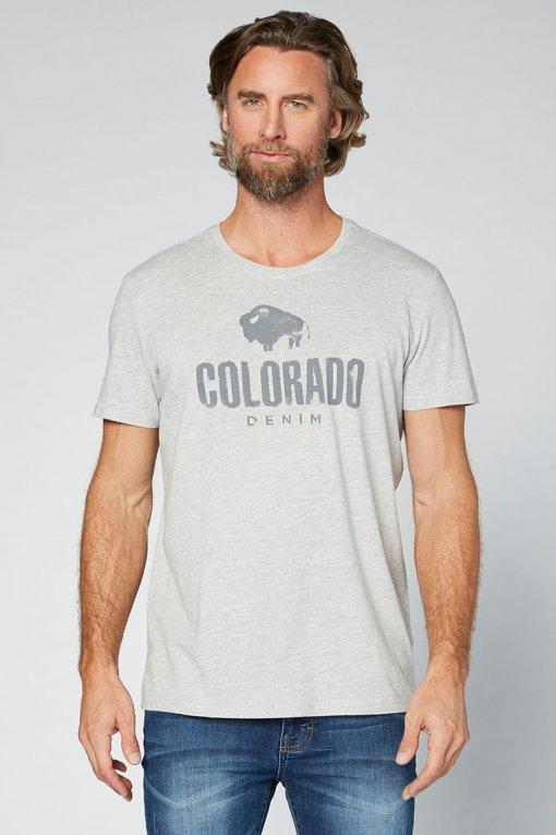 Colorado Cole T-Shirt grey Vorderansicht