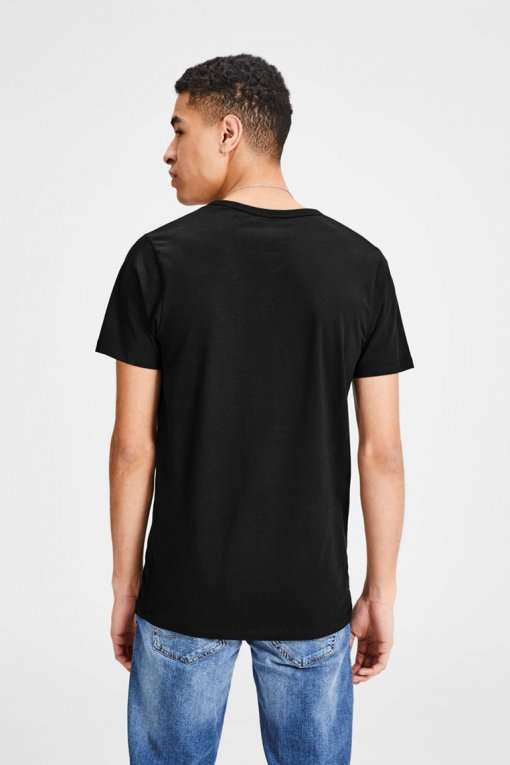 Jack & Jones V-Neck Tee S/S black Hinteransicht