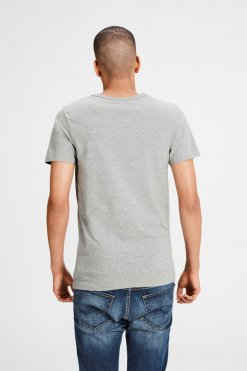 Jack & Jones V-Neck Tee S/S light grey melange Hinteransicht