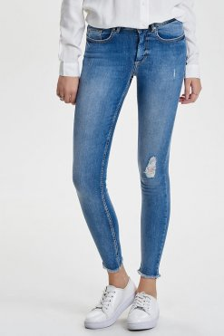 Only Blush ankle light blue denim Vorderansicht 2