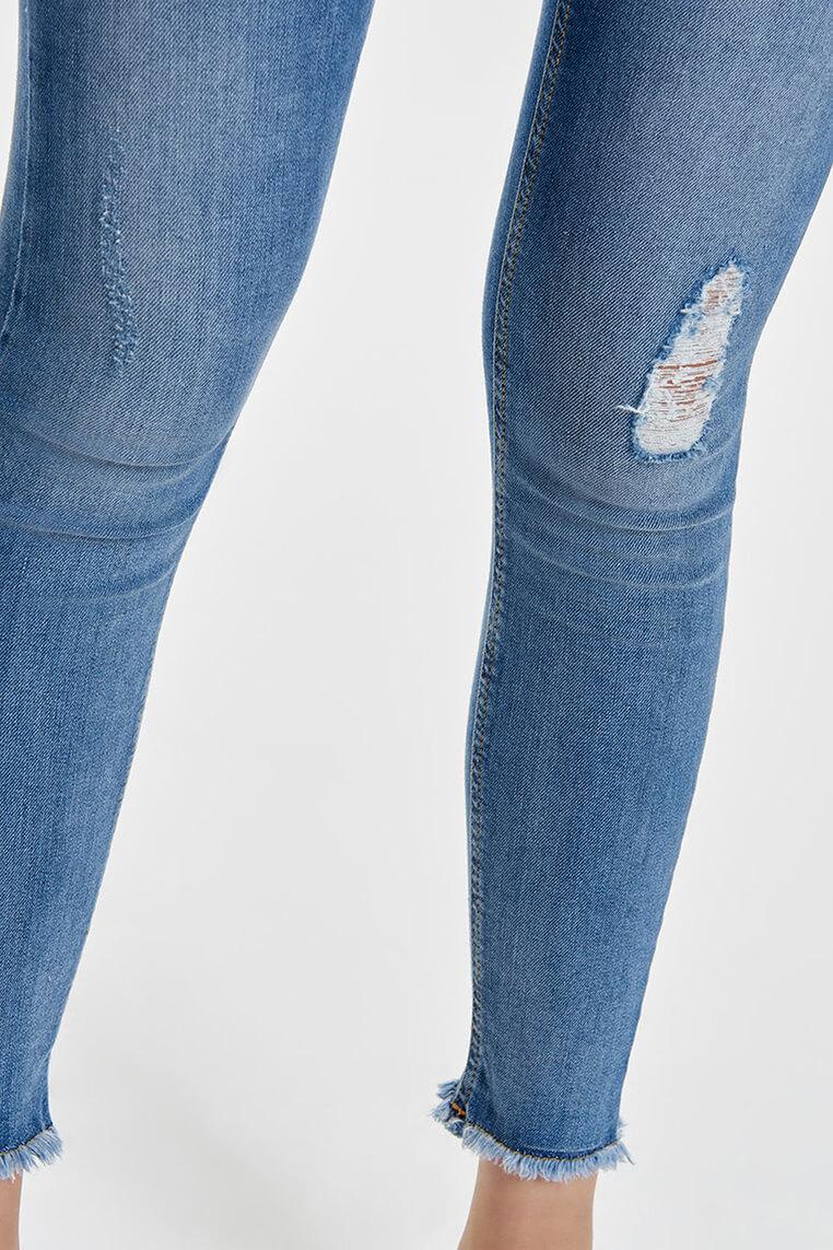 Only Blush ankle light blue denim Details