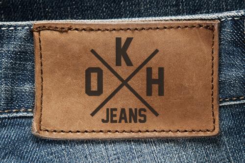 Oklahoma Jeans Logo auf Label 500px