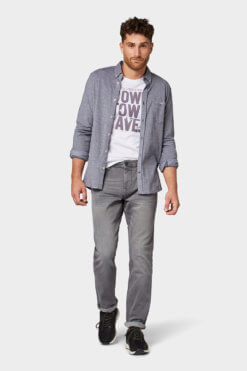 Tom Tailor Josh grey denim Vorderansicht
