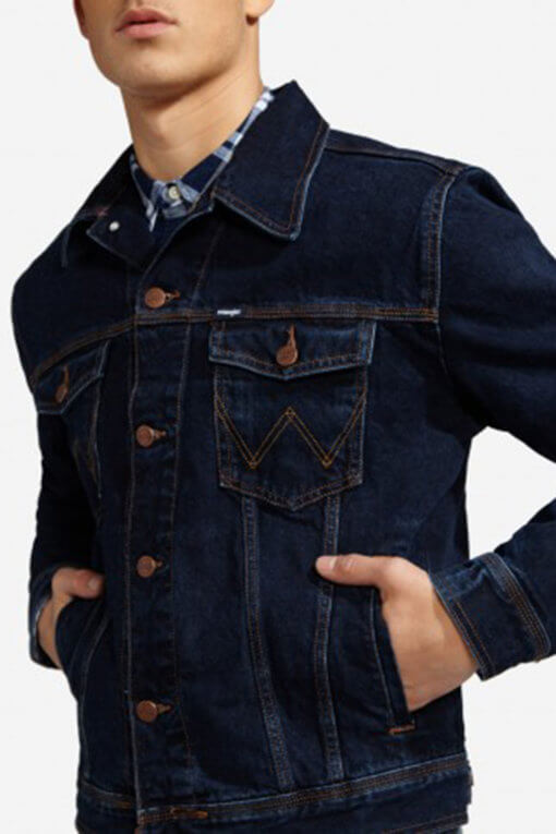 Wrangler Denim Jacket blue black Vorderansicht