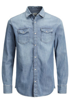Jack & Jones Denim Shirt light blue denim Vordernansicht
