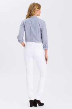 Cross Anya white denim Hinteransicht