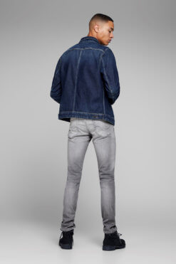 Glenn grey denim superstretch Hinteransicht