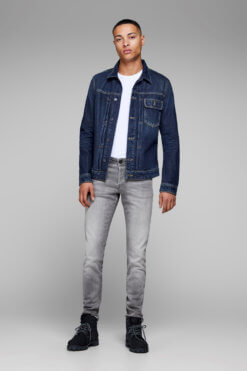 Glenn grey denim superstretch Vorderansicht 2