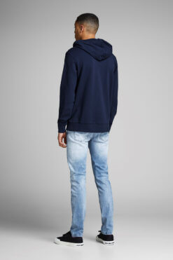 Jack & Jones Glenn light blue denim used superstretch Hinteransicht