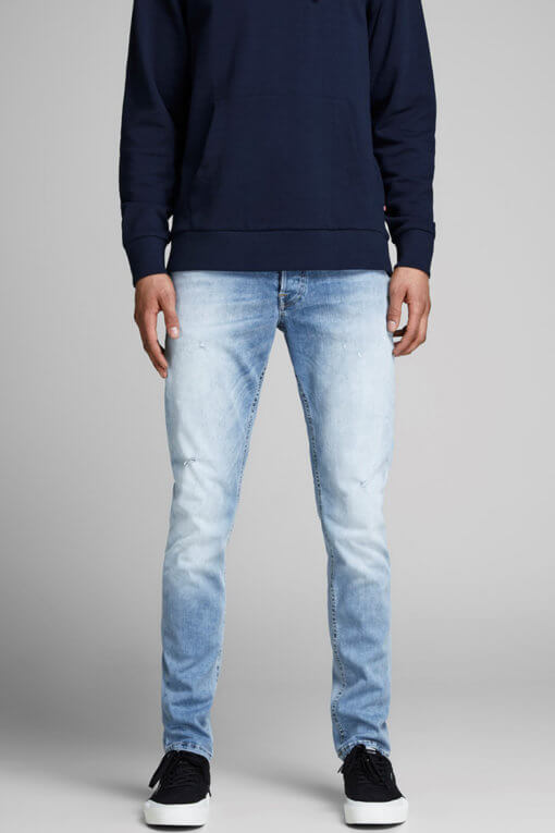 Jack & Jones Glenn light blue denim used superstretch Vorderansicht 2
