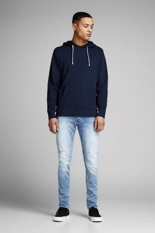 Jack & Jones Glenn light blue denim used superstretch Vorderansicht