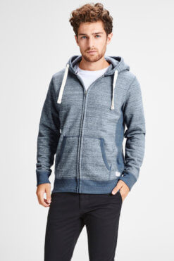 Jack & Jones Space Sweat Zip true navy Vorderansicht