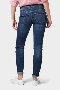 Tom Tailor Alexa Straight mid blue denim used Hinteransicht